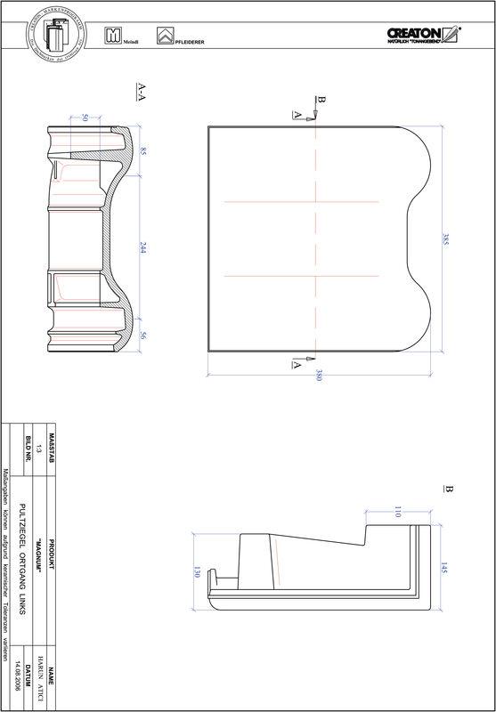 Product CAD file MAGNUM shed roof tile verge left PULTOGL