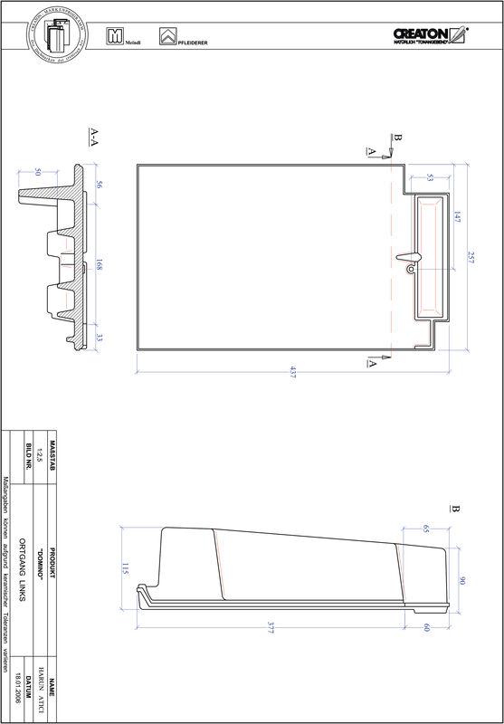 Product CAD file DOMINO gevelpan links OGL