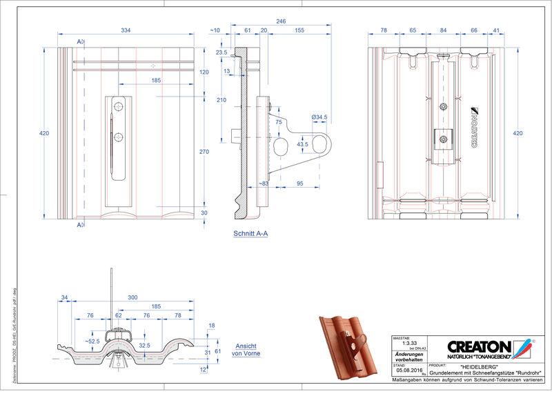 Product CAD file HEIDELBERG basiselement Rundrohr