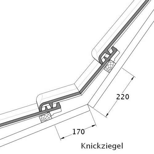Product technical drawing MAGNUM KNZ