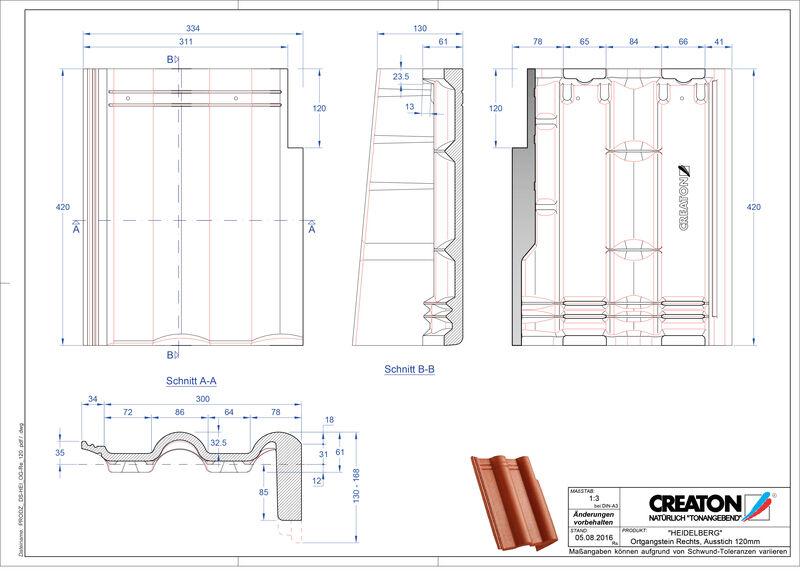 Product CAD file HEIDELBERG chaperonpan gevelpan rechts beton PultOGR-120