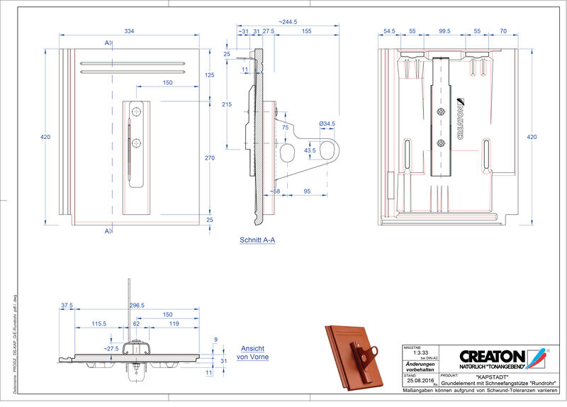 Product CAD file KAPSTADT base element Rundrohr