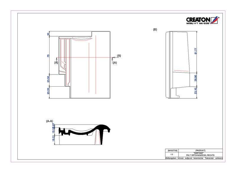 Product CAD file SINFONIE shedgevelpan rechts PULTOGR
