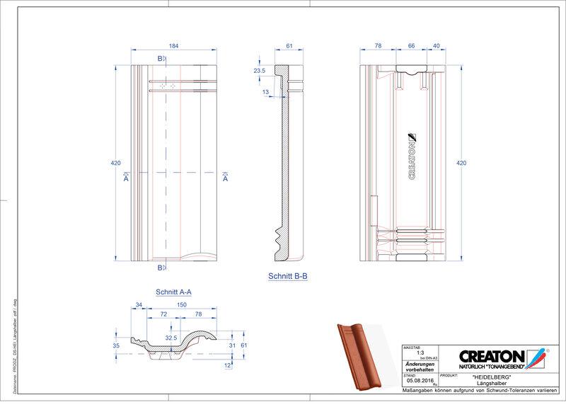 Product CAD file HEIDELBERG halve pan  Laengshalber
