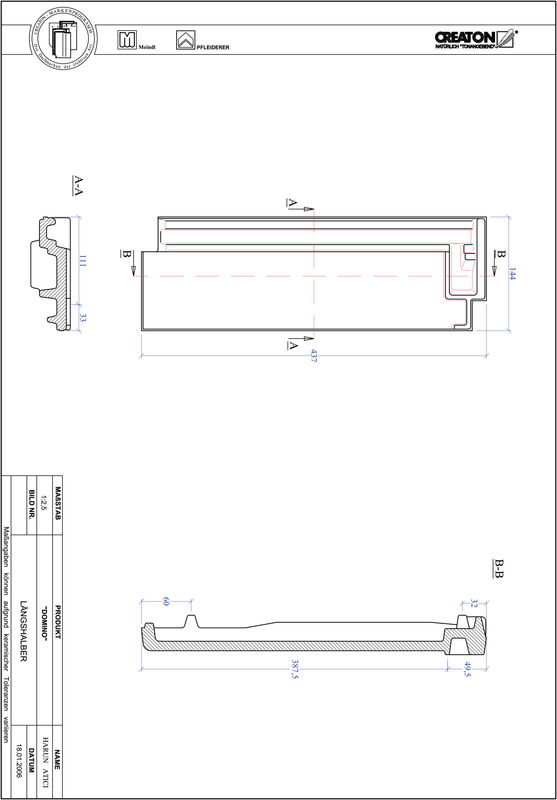 Product CAD file DOMINO gevelpan LH