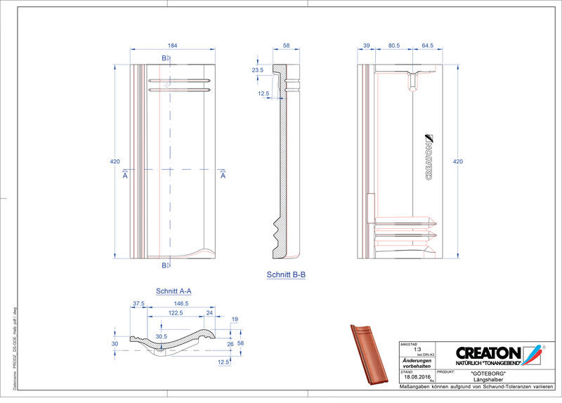 Product CAD file GÖTEBORG halve pan Laengshalber