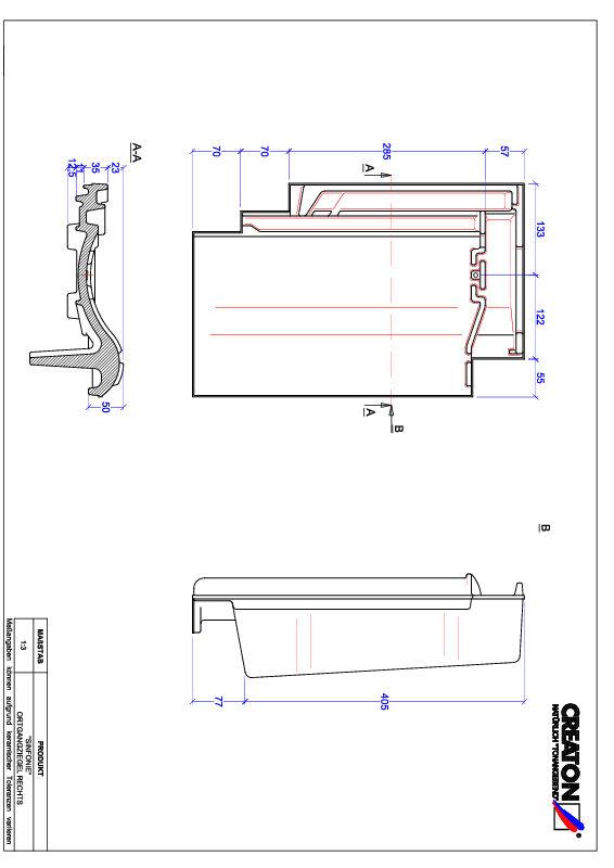 Product CAD file SINFONIE gevelpan rechts OGR