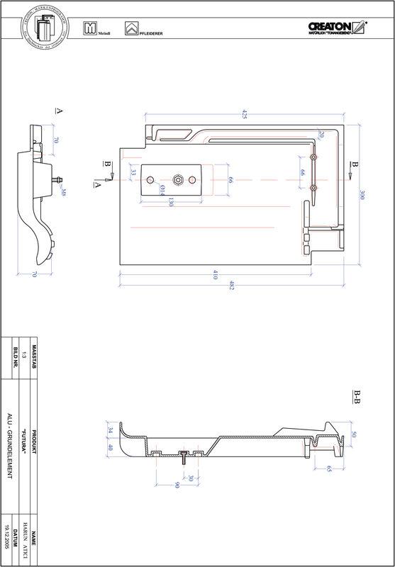 Product CAD file FUTURA base, aluminium GRUNDALU