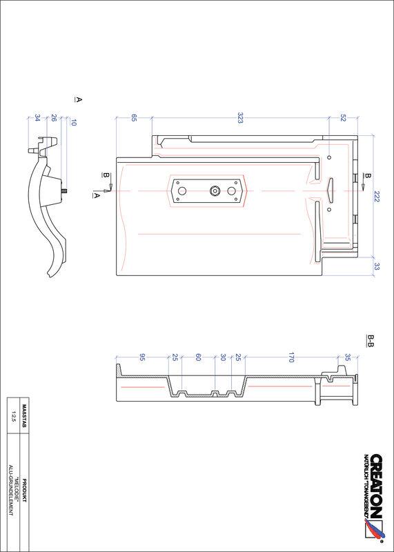 Product CAD file MELODIE base, aluminium GRUNDALU