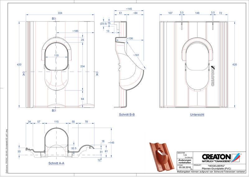 Product CAD file HEIDELBERG accessoires Grundplatte-PVC