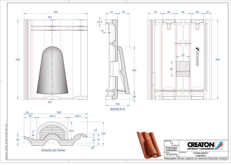 Product CAD file HEIDELBERG ventilatiepan beton Luefterstein