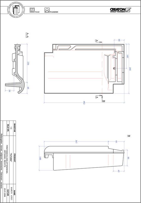 Product CAD file FUTURA ridge connection ventilator verge right FALOGR