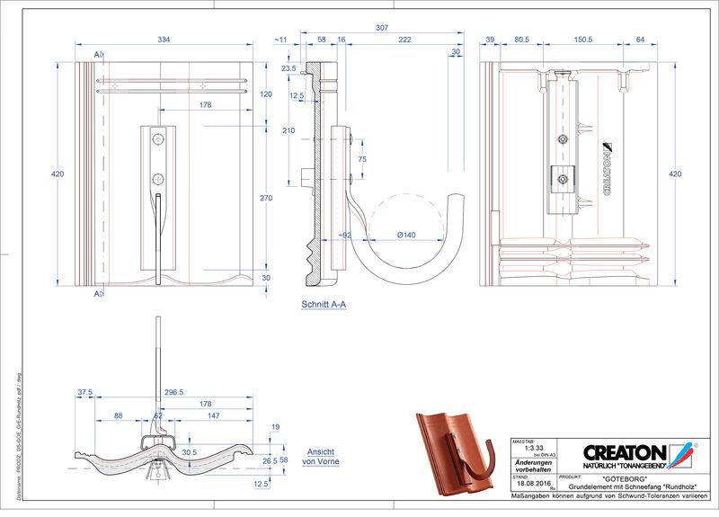 Product CAD file GÖTEBORG basiselement Rundholz