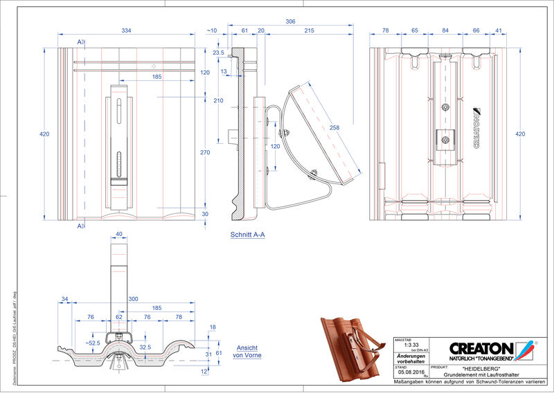 Product CAD file HEIDELBERG basiselement Laufrost