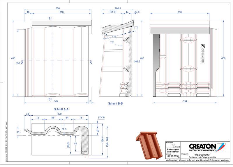 Product CAD file HEIDELBERG chaperonpan gevelpan rechts beton PultOGR