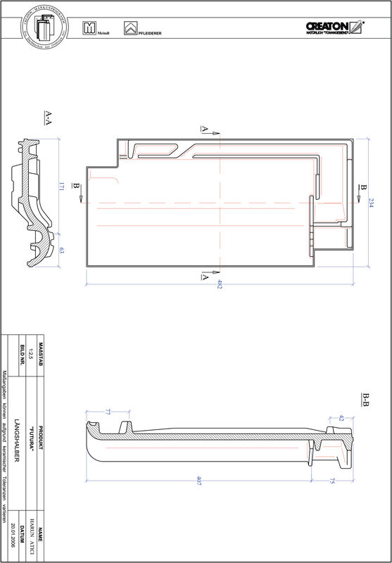 Product CAD file FUTURA halve pan LH