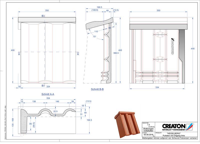 Product CAD file HEIDELBERG chaperonpan gevelpan links beton PultOGL