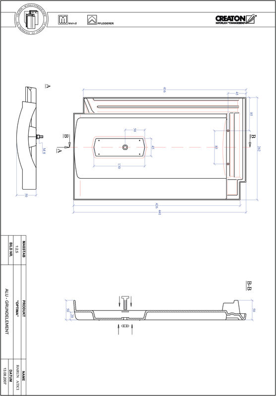 Product CAD file TERRA OPTIMA base, aluminium GRUNDALU