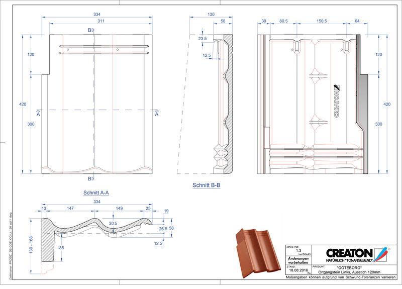 Product CAD file GÖTEBORG chaperonpan gevelpan links beton PultOGL-120