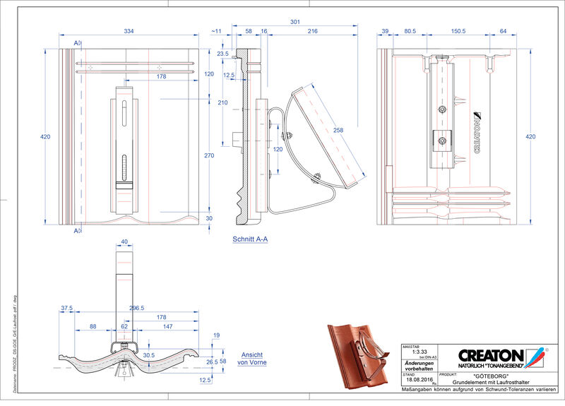 Product CAD file GÖTEBORG basiselement Laufrost