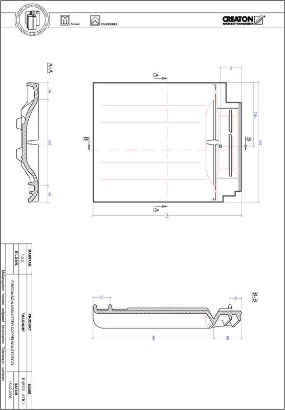 Product CAD file MAGNUM ridge connection ventilating double roll tile FALDWZ