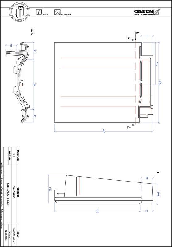 Product CAD file MAGNUM verge left OGL
