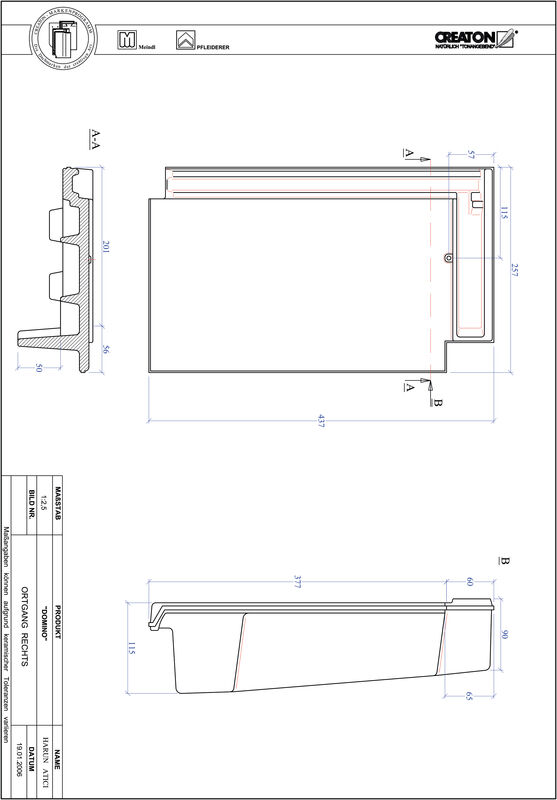 Product CAD file DOMINO gevelpan rechts OGR