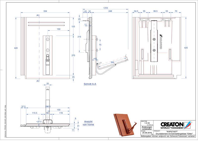 Product CAD file KAPSTADT base element Gitter