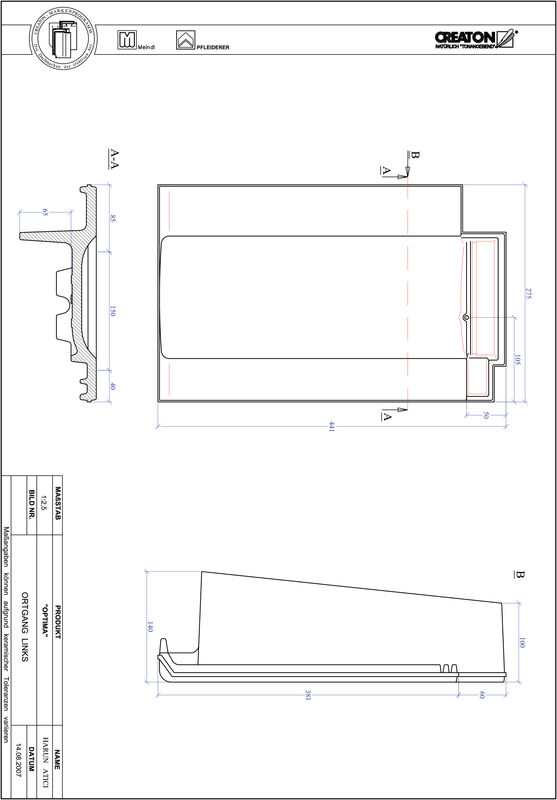 Product CAD file TERRA OPTIMA verge left OGL