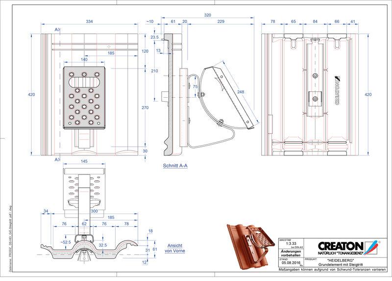 Product CAD file HEIDELBERG basiselement Steigtritt