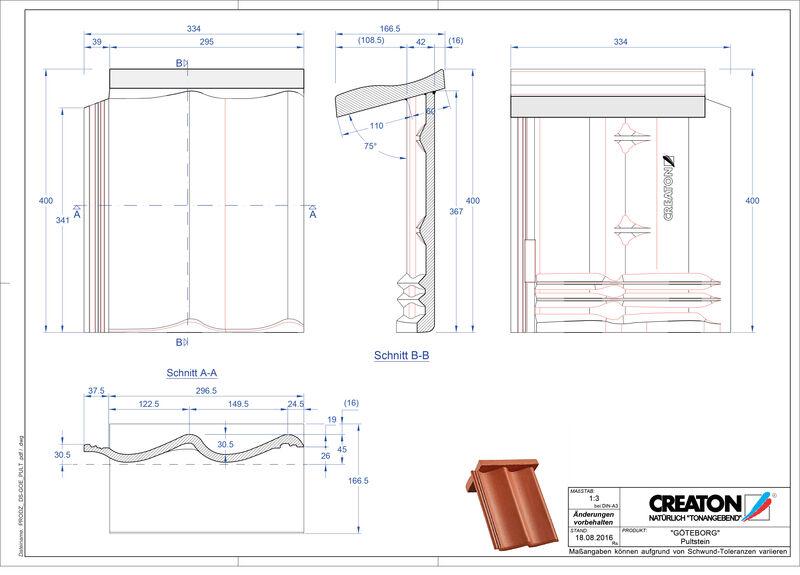Product CAD file GÖTEBORG chaperonpan beton PULTSTEIN