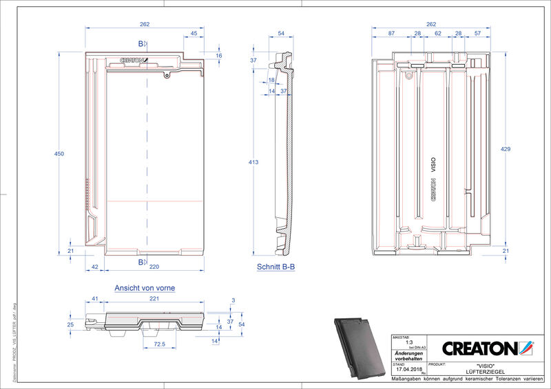 Product CAD file VISIO ventilating tile LUEFTZ
