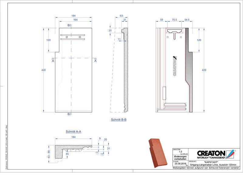 Product CAD file KAPSTADT gevelpan links OGL-halb-120