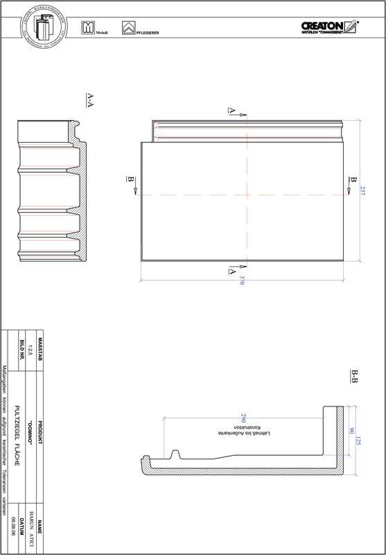 Product CAD file DOMINO shed-/chaperonpan PULTFLA