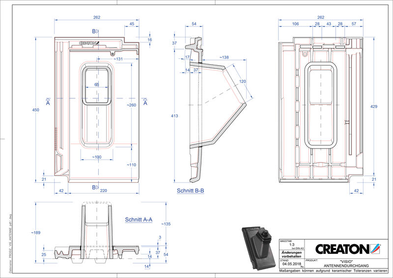 Product CAD file VISIO Aerial ANTENNE