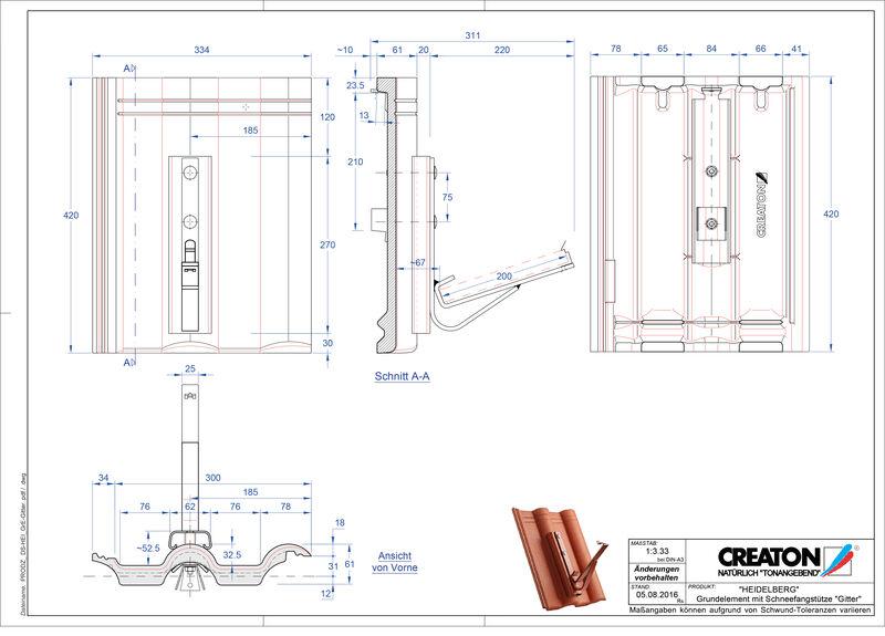 Product CAD file HEIDELBERG basiselement Gitter
