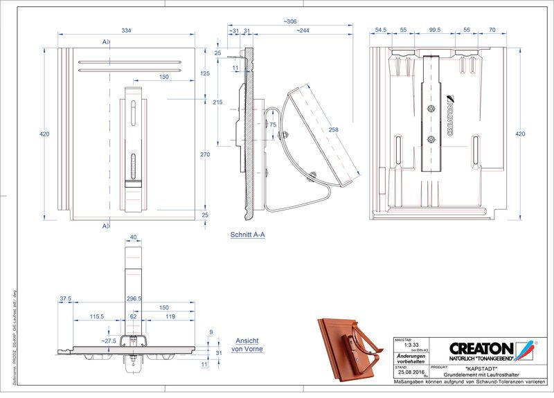 Product CAD file KAPSTADT base element Laufrost