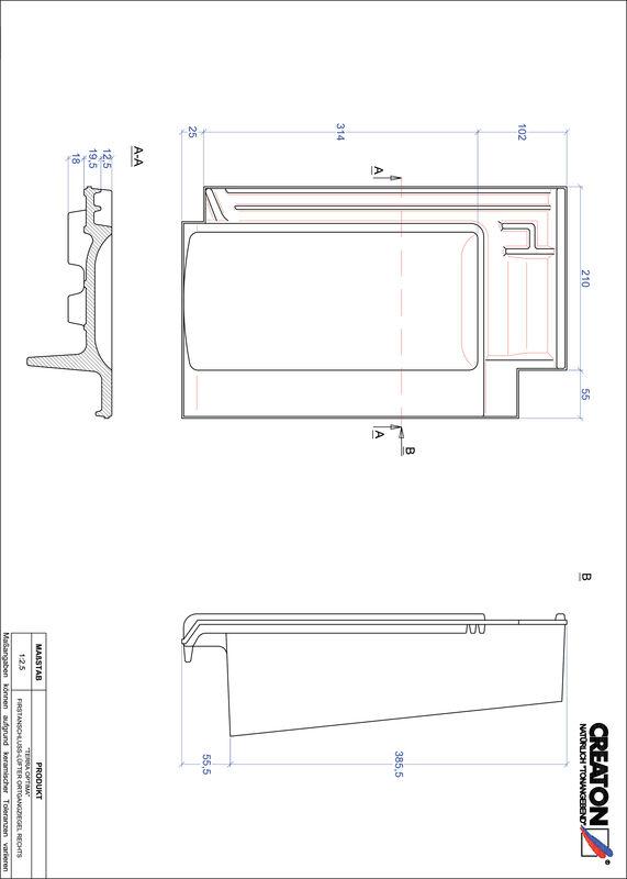 Product CAD file TERRA OPTIMA ridge connection ventilator verge right FALOGR