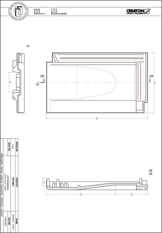 Product CAD file TERRA OPTIMA ventilating tile LUEFTZ