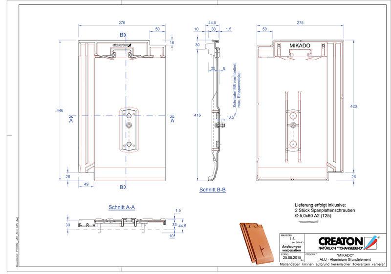 Product CAD file MIKADO base, aluminium GRUNDALU