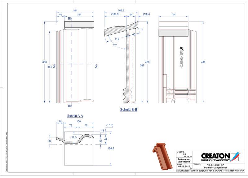 Product CAD file HEIDELBERG  chaperonpan beton Pult-halb