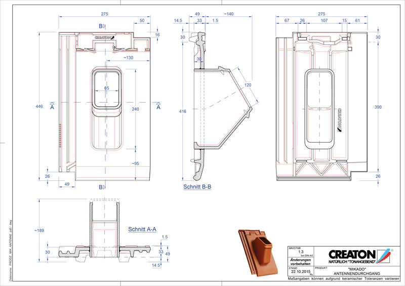 Product CAD file MIKADO Aerial ANTENNE