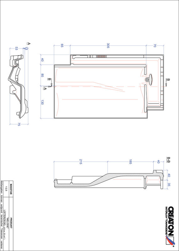 Product CAD file MELODIE ventilatiepan LUEFTZ