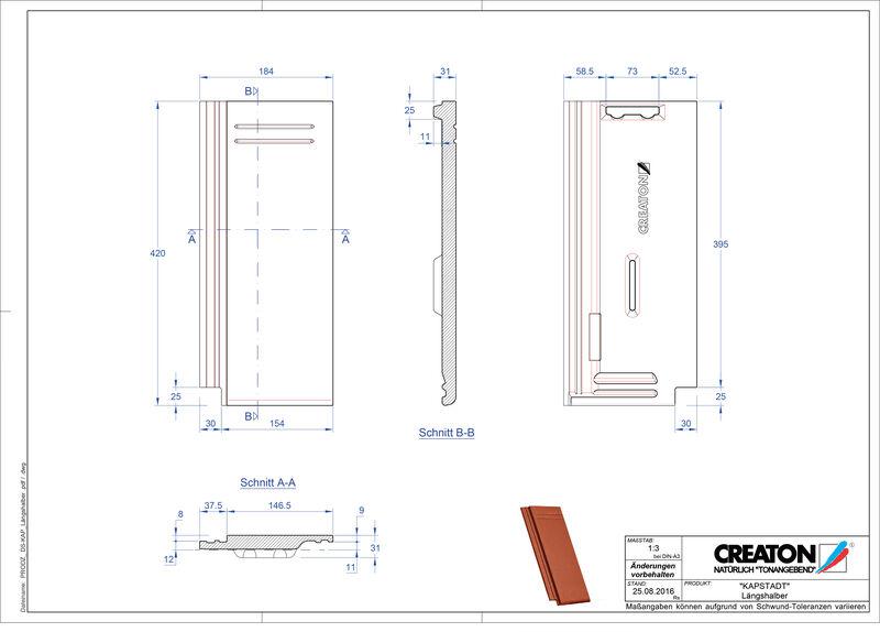 Product CAD file KAPSTADT halve pan Laengshalber