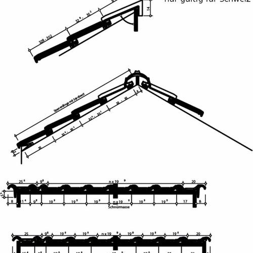 Product technical drawing HARMONIE Switzerland HARMONIE1