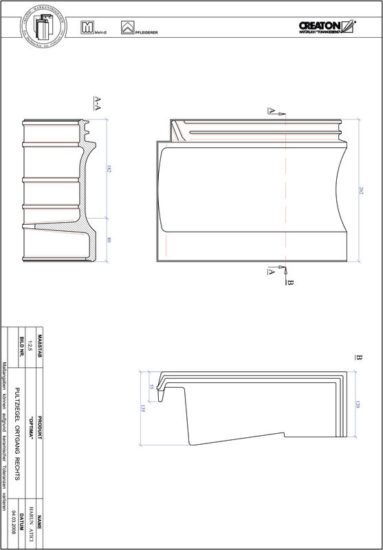 Product CAD file TERRA OPTIMA shed roof tile verge right PULTOGR