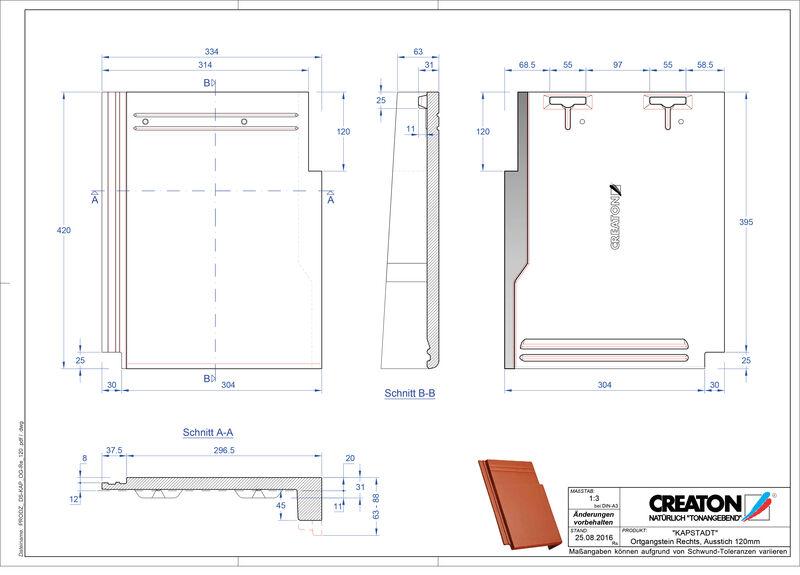 Product CAD file KAPSTADT gevelpan rechts OGR-120