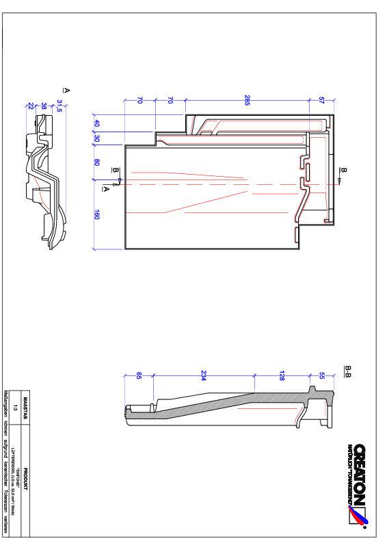 Product CAD file SINFONIE ventilatiepan LUEFTZ
