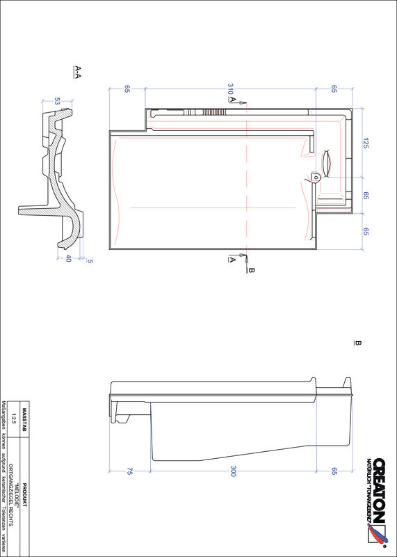 Product CAD file MELODIE gevelpan rechts OGR
